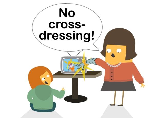 no crossdressing